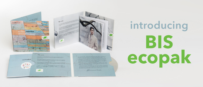 Introducing BIS ecopak - our new environmentally-friendly album sleeve