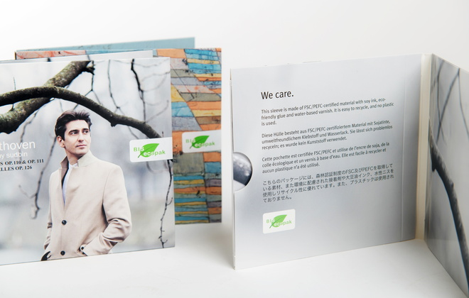 BIS ecopak - our new environmentally-friendly album sleeve. Photo: Jenny Thörnberg